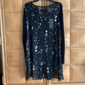 Sheer extra long tunic byTwo by Vince Camuto NWT